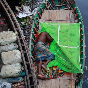 Fatigue sleep on the boat